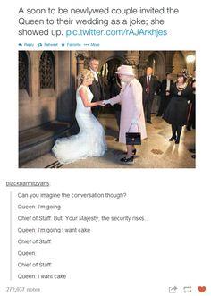 geek, england, cakes, giggl, funni, hilari, the queen, awesom, fandom