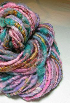 Handspun Art Yarn Sheeping Beauties Corespun by SheepingBeauty, $26.00