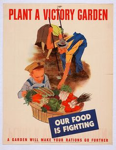 WWII Plant a Victory Garden poster