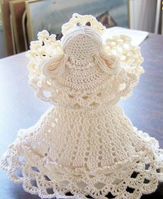 Ecru Crocheted Angel by maryellenscrafts on Etsy, $18.00
