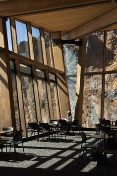 Knoll Ridge Cafe on Mount Ruapehu, Tongariro National park, New Zealand by Harris Butt Architecture
