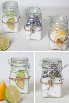 Infused Sugar--- what a cute way to store these!