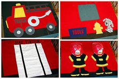 instructions for fire station card table tent