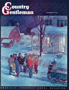 """""""Christmas Carollers"""" By Henry Soulen. Issue: December 1, 1945. ©SEPS."""