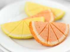 Citrus Slice Cookies recipe - you could also make these yellow and pink!