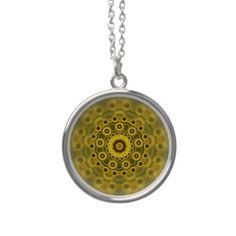 #Hippy #Sunflower #Fractal Mandala Pattern #Necklace $33.70