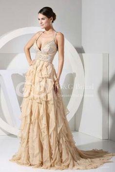 Beige wedding gown