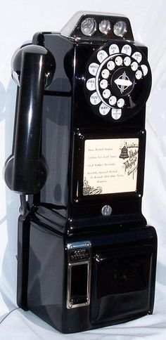 Pay phone  from the 50's  & 60's