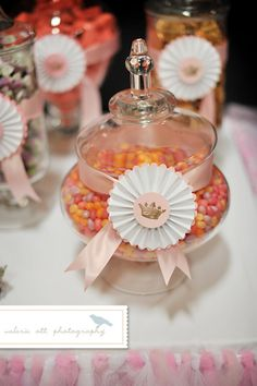Shabby Chic Candy Jar & Dessert Table 'Party Flair' by LeroyLime, $3.50
