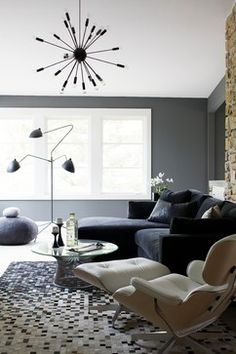 Bell Residence - AFTER - contemporary - family room - raleigh - Heather Garrett Design