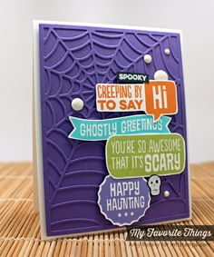 My favorite things love the Halloween card