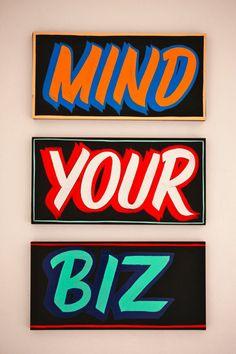 Mind Your Biz Typography