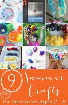 The 9 best summer crafts for toddlers and preschoolers (ages 2-6). We love Celebrate Summer, what's your favorite?
