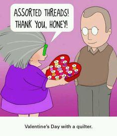 Romance and quilting sew, chocolates, quilt, valentine day, funni, humor, valentine ideas, valentine gifts, happi valentin