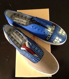 Doctor Who Shoes by TooCrazyGirlz on Etsy, $40.00