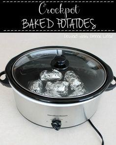 dinner, crockpot potatoes baked, crock pots, bake potato, crockpot vegetable, crockpot potatoes recipes, potato bar, crockpot baked potatoes, crockpot slowcook