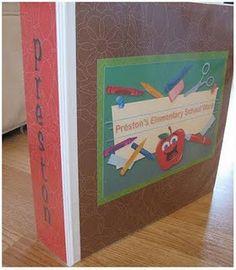Each kid has a binder for keepsake school work or art projects. Better than buckets!