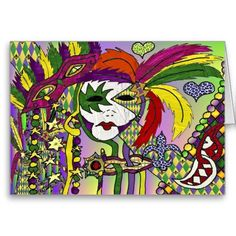 Psychedelic Mardi Gras Feather #Mask by Lee Hiller #Photography and Designs #MardiGras