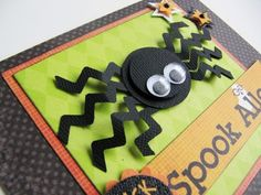 Oct_e   I couldn't resist using the borders to make this fun spider, so easy peasy!     Oct_f  Oct_g Supplies: EK Success zig zag c...