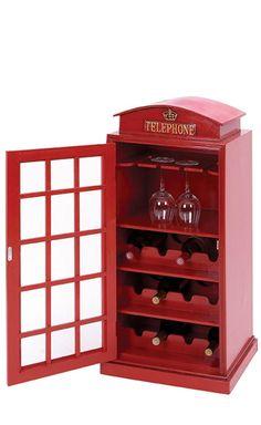 Telephone Booth Wine Rack //