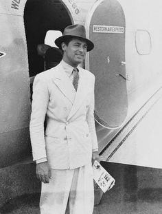 Cary Grant -I love watching him in ANY movie! Cary Grant exudes confidence that does not appear as arrogance.