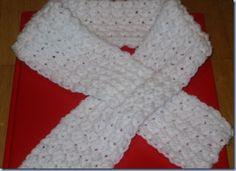 White Ribbon Campaign #scarf free #crochet pattern