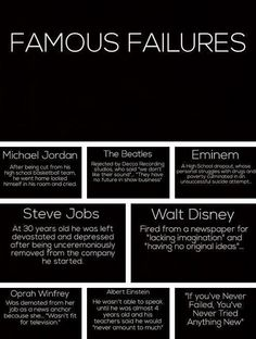 Failing doesn't have to be negative #ThinkPositive