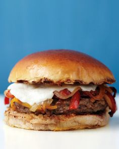 Pork Burgers with Peppers
