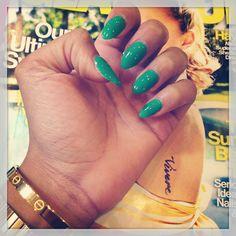 green manicur