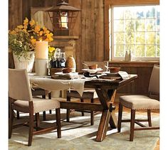 Toscana Extending Table  Manchester Chair Set #potterybarn table & 6 chairs 3393