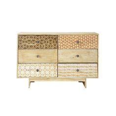 Commode 6 tiroirs à motifs - Serengeti