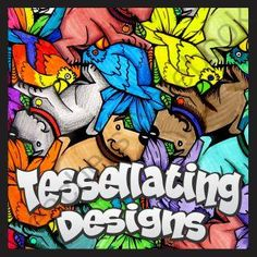 Tessellation Designs from Outside the Lines Lesson Designs on TeachersNotebook.com -  (34 pages)  - Creating a tessellation is a great project for math or art class. This project addresses creativity, polygons, symmetry, reflection, roation, mechanical drawing and more.