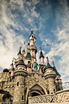 Disney castle.