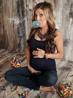 READY TO POP Bubble gum gender reveal photo fun baby announcement. unique gender reveal photo. cute way to announce the gender of the baby. Originally pinned by Rachel Faubion baby gender, gender reveal photos, hair colors, maternity photos, pregnancy photos, maternity pictures, maternity pics, photo session, bubble gum