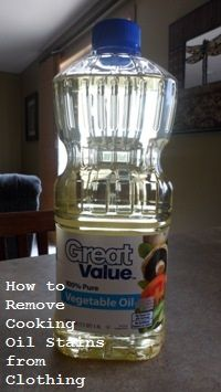 cooking oil stains