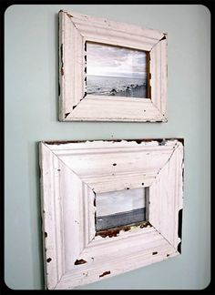 the old painted cottage, distress frame, picture frames, pictur frame