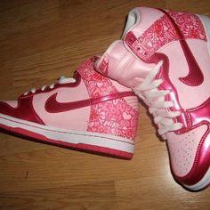 Pink Nike hightops