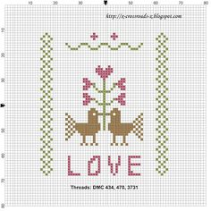 Design: XCrossroadsX Designs: Love Birds Pincushion (freebie)