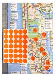 Map of NYC for out of town wedding guests