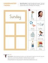 Kindergarten worksheets - Days of the week - Intermediate 7