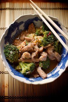 Ternera con brécol en salsa de ostras, receta china con Thermomix
