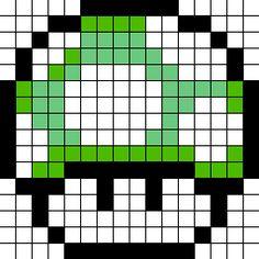 1-Up-Mushroom fuse bead pattern