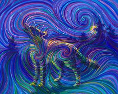 #trippy #psychedelic #colors #animals #wolf #landscape #art