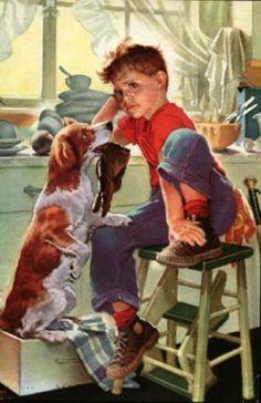 franc tipton, pictur, play, children, franci tipton, artist, boy, illustr, frances tipton hunter