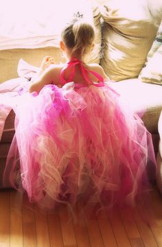 Homemade birthday princess dress