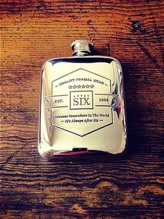 Pewter flask for a little liquid encouragement #groom #gift.