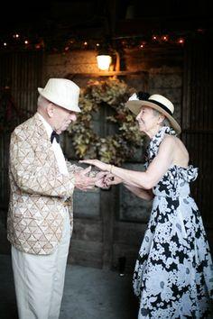seasoned couples dancing