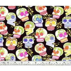 Mini Calaveras Day of the Dead Fabric by Alexander Henry