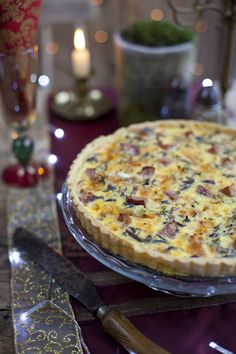 Leftover Ham and Cheese Caramelised Onion Tart