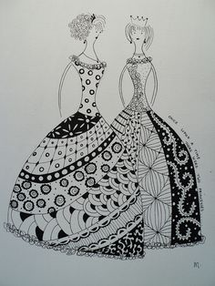 zentangle princess, i love zentangle!!